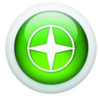Green Icon Compass